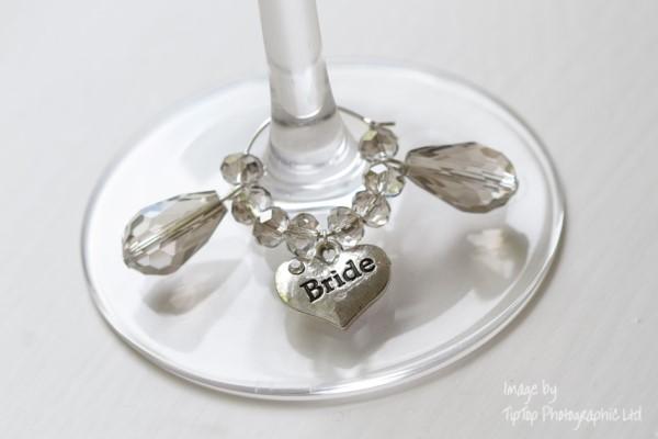 wedding glass charms